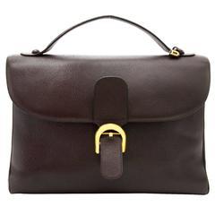 Delvaux Brown Brillant Briefcase