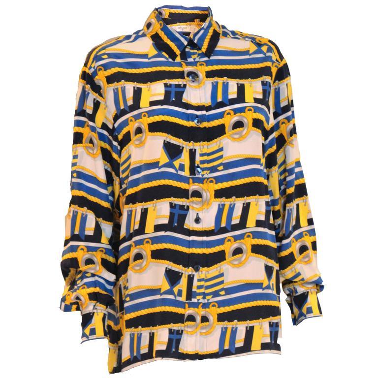 1980's Celine Silk Shirt