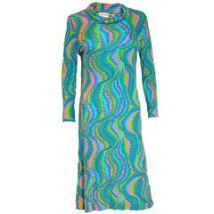 Vintage Leonard Paris Silk Jersey Dress