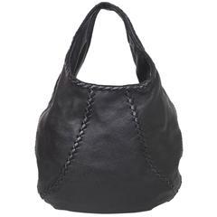 Bottega Veneta Black Cervo Leather Large Baseball Hobo Bag rt. $1,780