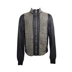 Rick Owens Men's Black Leather Studded Jacket