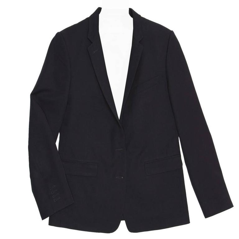 Dries Van Noten Dark Navy Snap Front Blazer 1
