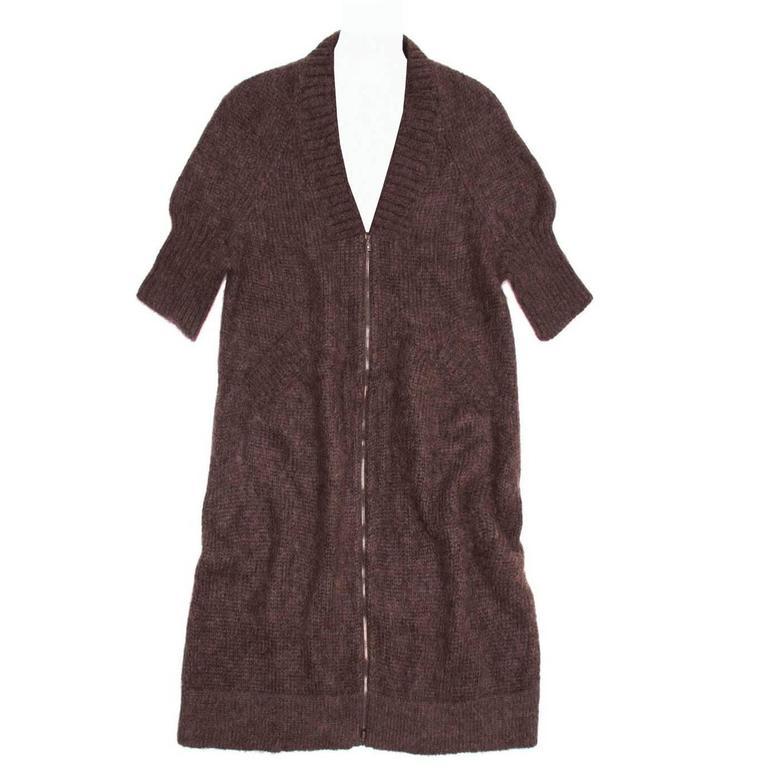Hermès Brown Angora Long Sweater