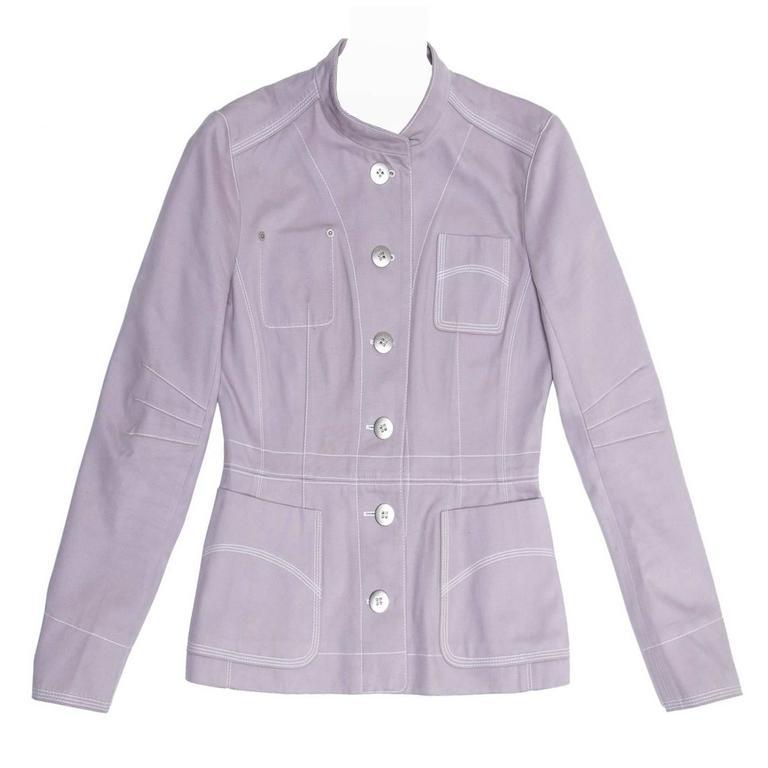 Louis Vuitton Lavender Cotton Fitted Jacket