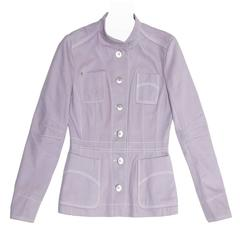 Louis Vuitton Lavender Cotton Fitted Jacket