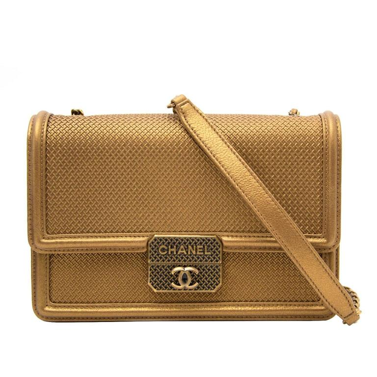 AS NEW Chanel Gold Micro Retro Flap Bag  1