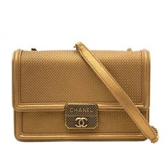 AS NEW Chanel Gold Micro Retro Flap Bag
