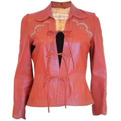 1970s leather jacket by Jean and Michael Pallant