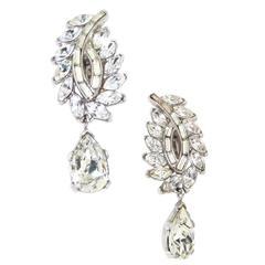 Vintage Diamante Earrings by Trifari