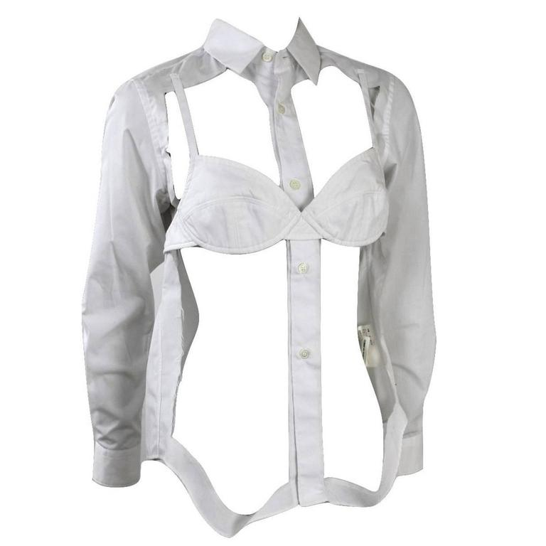 Comme des Garcons 2008 Collection Runway Bra Blouse For Sale