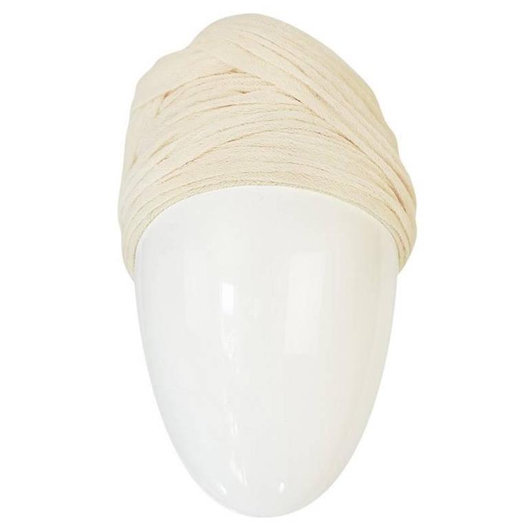 Vintage Renata Originals Cream Gauze Turban Hat 1