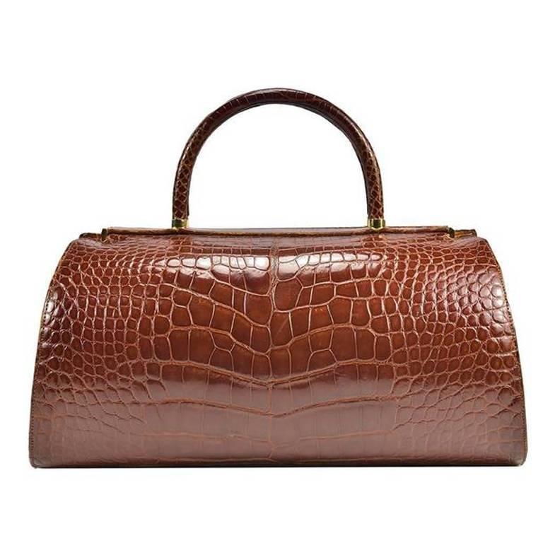 Classic Genuine Alligator Judith Leiber Bag For Sale