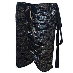 Isabel Marant Felmira Sequinned Wrap Skirt