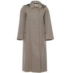 Burberry London Tan Trench Coat w/ Detachable Hood sz XL