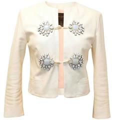 Louis Vuitton Off-White Leather Jacket