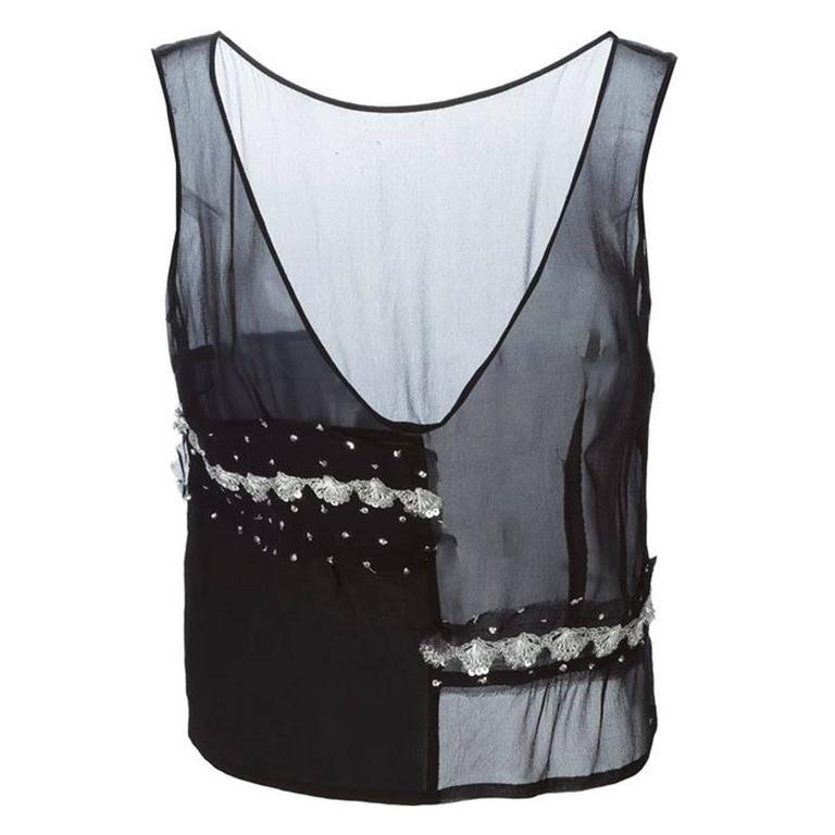 Black Silk Top Comme Des Garcons