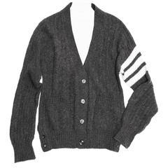 Thom Browne Dark Grey Cashmere Cardigan