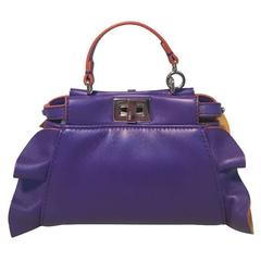 Fendi Micro Mini Peekaboo Bag in Purple and Amber