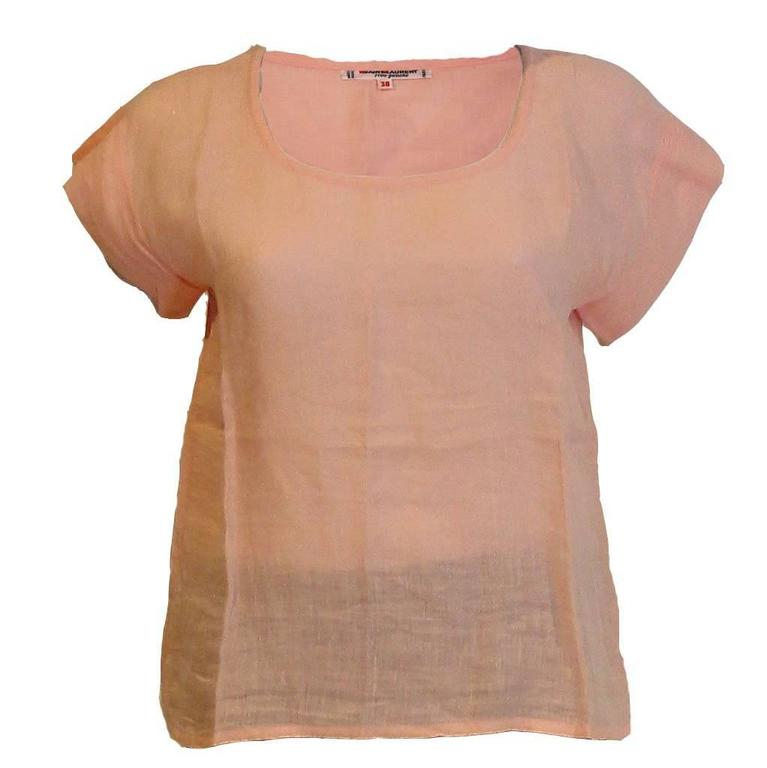Yves Saint Laurent Rive Gauche  Linen Top For Sale