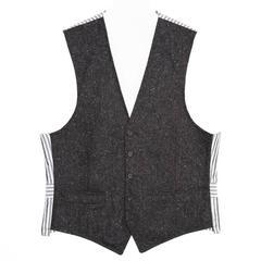 Thom Browne Grey & Ivory Tweed Vest
