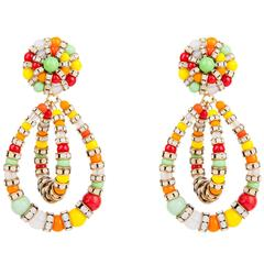 Lolita Earrings Rainbow Crystals