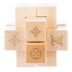 Louis Vuitton Monogram Logo Wood Game Puzzle Desk Table Decorative in Box