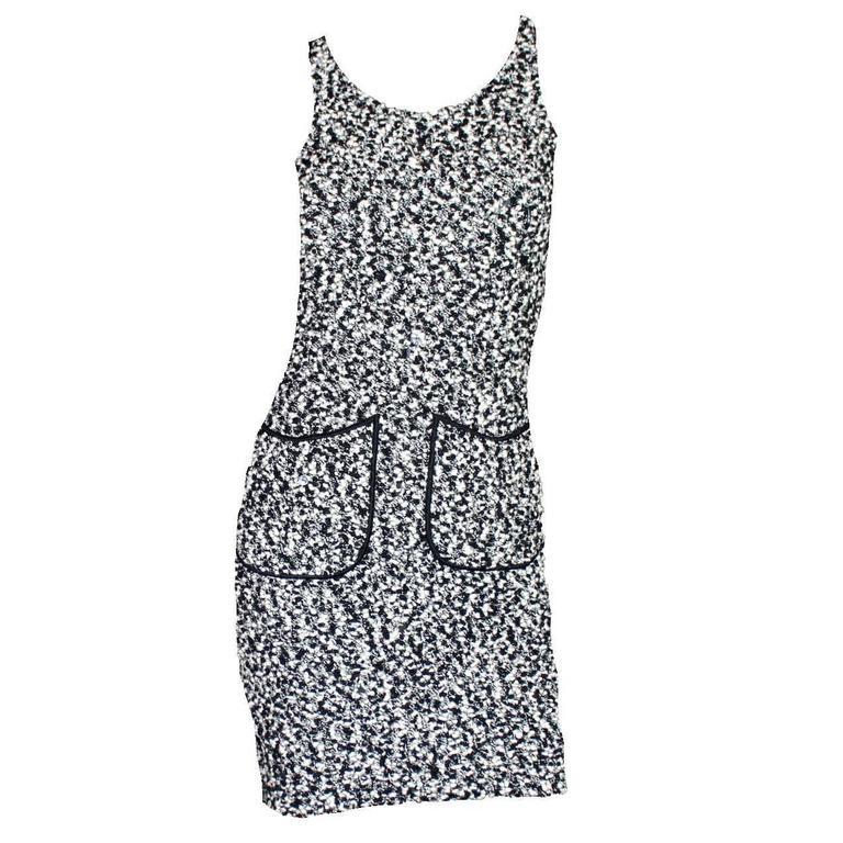 Amazing Chanel Signature Black & White Mini Dress