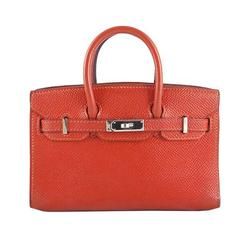 Hermes Micro Mini Birkin Feu Orange Epsom Leather - Rare