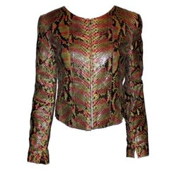 Gorgeous Chanel Exotic Python Skin Leather Jacket
