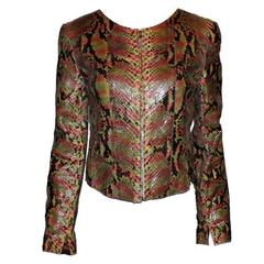 Gorgeous Chanel Exotic Python Skin Leather Jacket