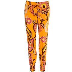 Gucci Multicolor Silk Printed Pants