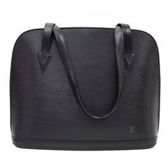 Louis Vuitton Lussac Black Epi Leather Large Shoulder Bag