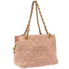 Chanel Pink Caviar PTT Petite Timeless Shopping Tote Bag