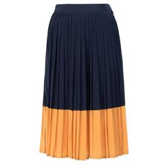 Gucci Pleated Silk Skirt