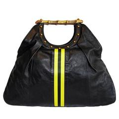 "Free Shipping: Tom Ford Gucci SS 2004 Leather Silk ""Racing Stripes"" Runway Bag!"