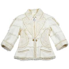 Chanel Jacket Ecru Color