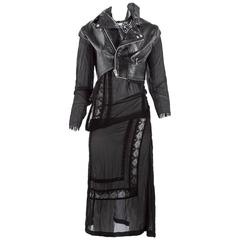 Junya Watanabe Leather Biker Dress