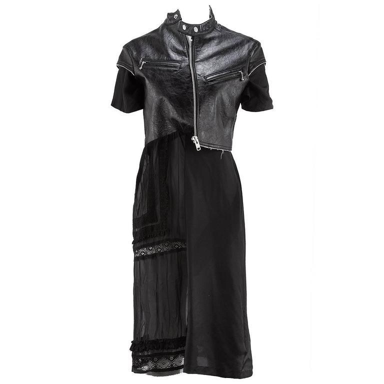 Junya Watanabe Short Sleeve Biker Dress