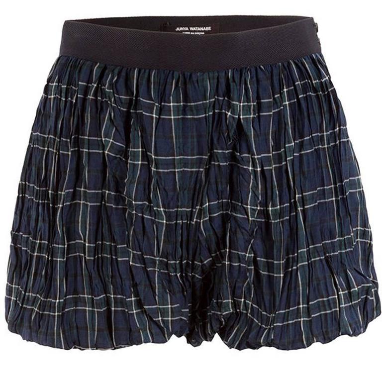 Junya Watanabe Comme des Garçons Plaid Crinkle Shorts