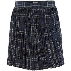 Junya Watanabe Comme des Garçons Plaid Crinkle Skirt