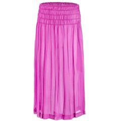 Comme des Garçons Washed Silk Skirt