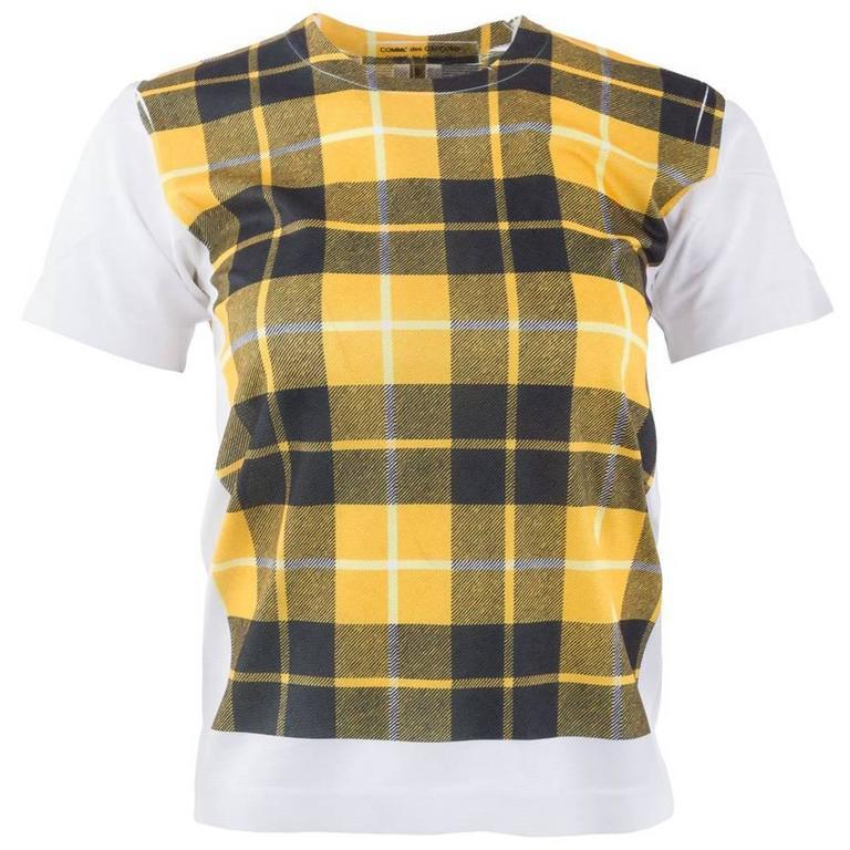 Comme des Garçons Tartan Print T-Shirt