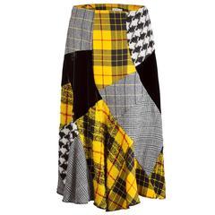 Comme des Garçons Patchwork Tartan Skirt