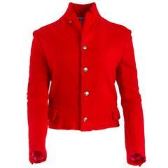 Comme des Garçons Red Wool Jacket