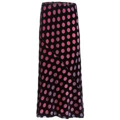 Comme des Garçons Velvet Polka-Dot Skirt