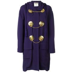 1980's MOSCHINO medal embellished light coat