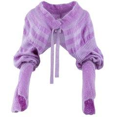 Tao Comme des Garçons Lavender Mohair Knit Shrug