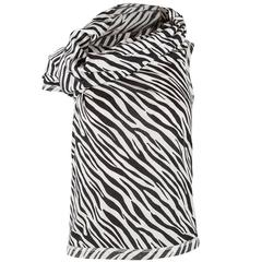 Junya Watanabe Comme des Garçons Asymmetric Zebra Print Knit Top