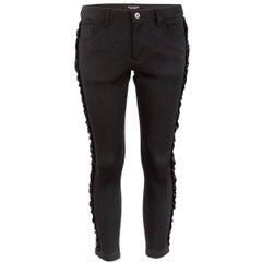 Junya Watanabe Comme des Garçons Black Skinny Pants with Ribbon Detail