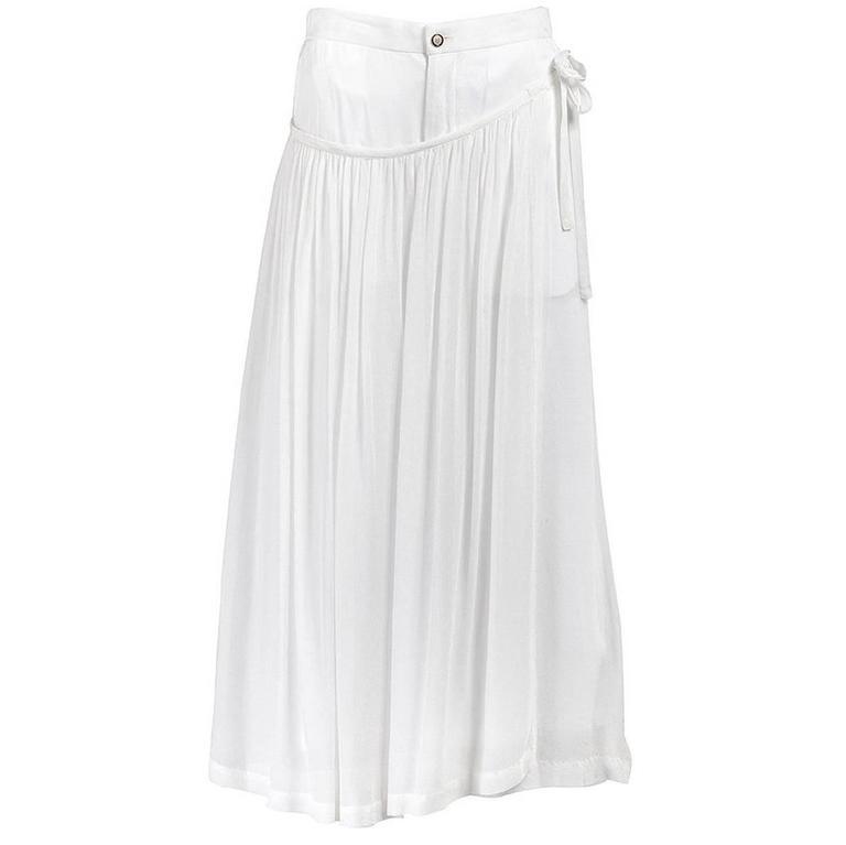 Comme des Garçons White Draped Apron Overlay Skirt
